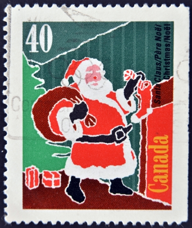 CANADA - CIRCA 2004: A stamp printed in Canada shows image of Santa Claus, circa 2004