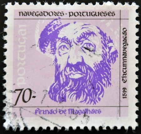PORTUGAL - CIRCA 1993: A stamp printed in Portugal shows Ferdinand Magellan, circa 1993