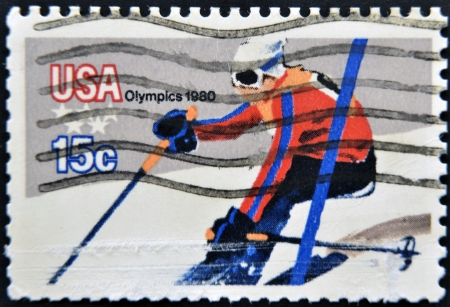 UNITED STATES OF AMERICA - CIRCA 1980  stamp printed in USA shows sky, olympics, circa 1980  Stock Photo - 14137141