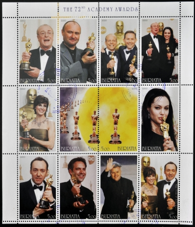 BURYATIA - CIRCA 2000  Collection stamps dedicated to the 72nd Academy Awards, circa 2000