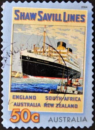 AUSTRALIA - CIRCA 2004  A stamp printed in Australia shows Saw Svill Lines, circa 2004 photo