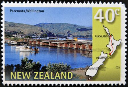 NEW ZEALAND - CIRCA 1997  A stamp printed in New Zealand shows Paremata, Wllington, circa 1997 photo