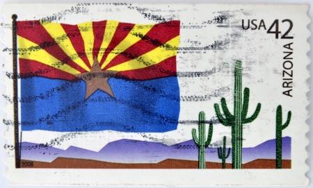 UNITED STATES OF AMERICA - CIRCA 2008  A stamp printed in USA dedicated to Arizona, circa 2008 photo