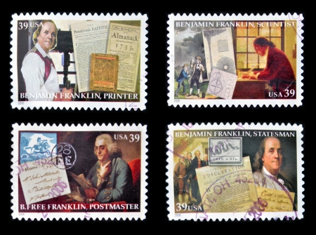 the franklin: UNITED STATES OF AMERICA - CIRCA 2006  Collection stamps printed in USA shows Benjamin Franklin, circa 2006