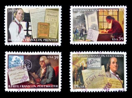benjamin: UNITED STATES OF AMERICA - CIRCA 2006  Collection stamps printed in USA shows Benjamin Franklin, circa 2006