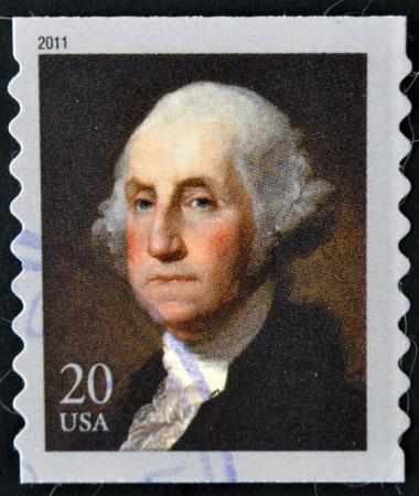 UNITED STATES OF AMERICA - CIRCA 2011  A stamp printed in USA shows president George Washington, circa 2011 Stock Photo - 14423588