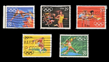 UNITED STATES OF AMERICA - CIRCA 1991  A stamp printed in USA dedicated to Olympic Games of Barcelona 92, circa 1991