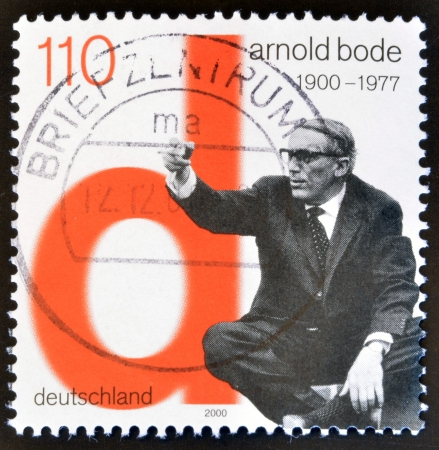 bode: GERMANY- CIRCA 2000: stamp printed in Germany, shows Arnold Bode, Artist, circa 2000.  Editorial