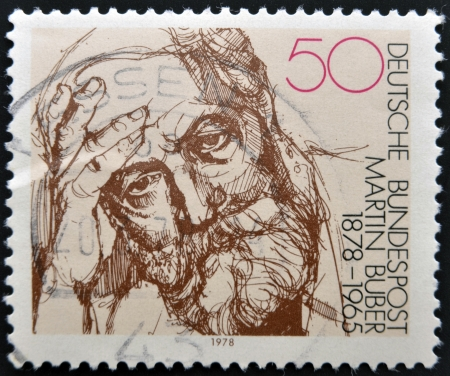 GERMANY - CIRCA 1978: stamp printed in Germany shows portrait Martin Buber, circa 1978.  Stock Photo - 14596867