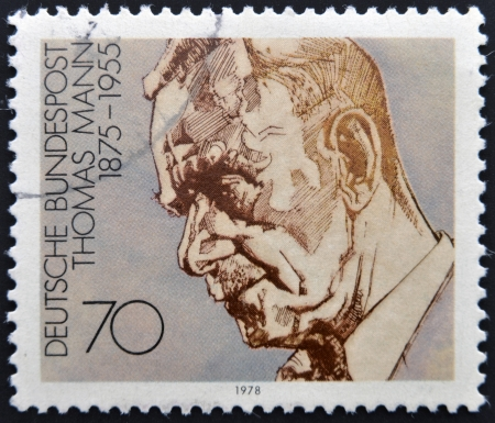 GERMANY - CIRCA 1978: A stamp printed in Germany shows Thomas Mann, circa 1978  Stock Photo - 14596880