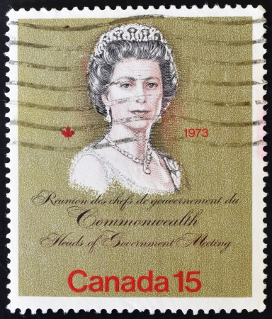 CANADA - CIRCA 1973: stamp printed in Canada shows Queen Elizabeth II, circa 1973