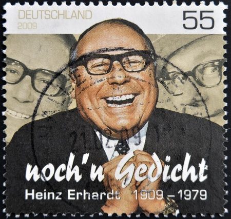 GERMANY - CIRCA 2009: A stamp printed in Germany shows Heinz Erhardt, circa 2009