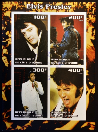 IVORY COAST - CIRCA 2003  collection stamps shows Elvis Presley, circa 2003