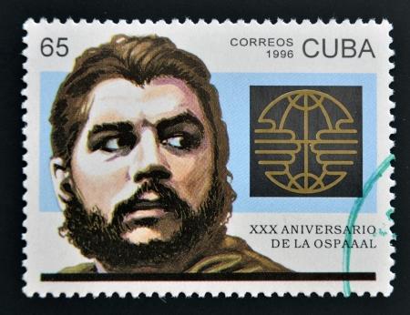 CUBA - CIRCA 1996  A stamp printed in Cuba shows Ernesto Che Guevara, circa 1996