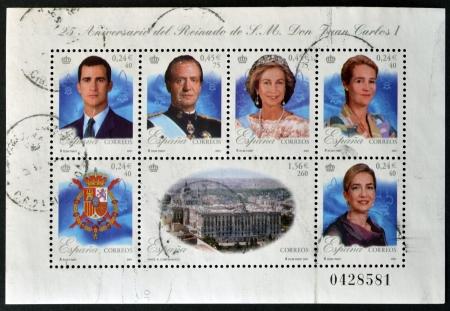 SPAIN - CIRCA 2001  Collection stamps shows royal family, circa 2001 Stock Photo - 14668108