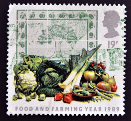 UNITED KINGDOM - CIRCA 1989: A stamp printed in Great Britain shows Food and Farming Year 1989, circa 1989.  photo