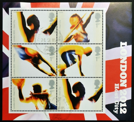 UNITED KINGDOM - CIRCA 2006: Stamps dedicated to Londons Successful Bid for Olympic Games, 2012, circa 2012