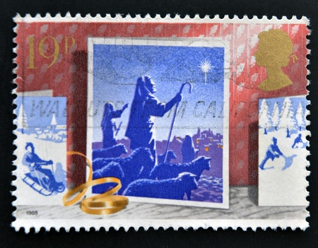 UNITED KINGDOM - CIRCA 1988: A stamp printed in Great Britain showing Shepherds and Star, circa 1988 Stock Photo - 14823642