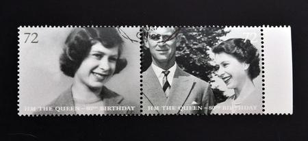 queen elizabeth: UNITED KINGDOM - CIRCA 2002: Collection stamps printed in Great Britain shows Queen Elizabeth II, circa 2002.