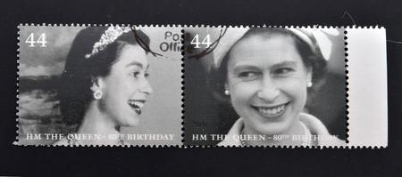 queen elizabeth ii: UNITED KINGDOM - CIRCA 2002: Collection stamps printed in Great Britain shows Queen Elizabeth II, circa 2002.