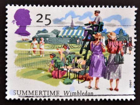 UNITED KINGDOM - CIRCA 1994: A stamp printed in Great Britain shows Wimbledon, Summertime, circa 1994