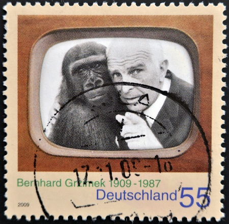 conservationist: GERMANY - CIRCA 2009: A stamp printed in Germany shows Bernhard Grzimek, circa 2009