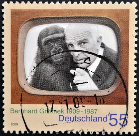 GERMANY - CIRCA 2009: A stamp printed in Germany shows Bernhard Grzimek, circa 2009 Stock Photo - 14938761