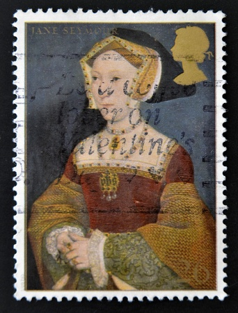 viii: UNITED KINGDOM - CIRCA 1997  A stamp printed in Great Britain shows Jane Seymour, wife of Henry VIII, circa 1997