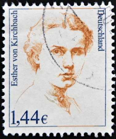 esther: GERMANY - CIRCA 2002: A stamp printed in Germany shows Esther von Kirchbach, writer, circa 2002 Editorial