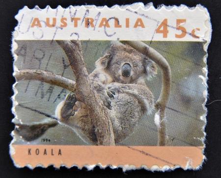 AUSTRALIA - CIRCA 1994: A stamp printed in Australia shows koala, circa 1994  photo