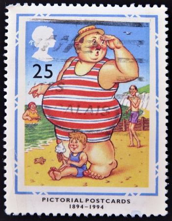 UNITED KINGDOM - CIRCA 1994  A stamp printed in Great Britain dedicated to Centenary of Picture Postcards, shows  Stock Photo - 14938826