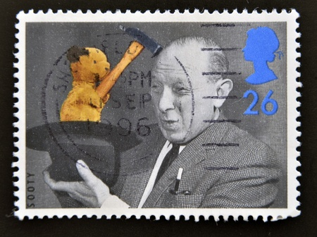 sooty: UNITED KINGDOM - CIRCA 1996  A stamp printed in Great Britain shows Sooty, circa 1996