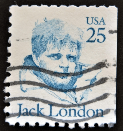 UNITED STATES OF AMERICA - CIRCA 1986: A stamp printed in USA shows Jack London, circa 1986  Stock Photo - 14938823