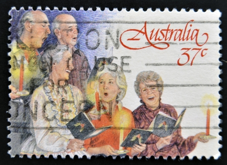 AUSTRALIA - CIRCA 1988: A stamp printed in Australia shows Church Choir, circa 1988  Stock Photo - 15138282