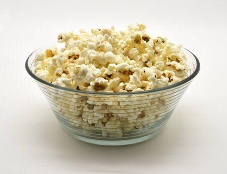 popcorn in glass bowl photo
