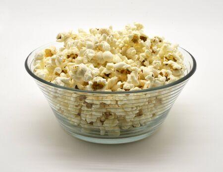 popcorn in glass bowl Stock Photo - 15137845