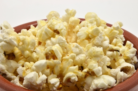 popcorn in bowl of mud Stock Photo - 15138007