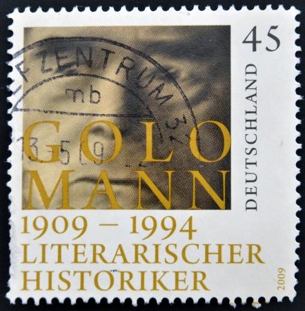 mann: GERMANY - CIRCA 2009: A stamp printed in Germany shows Golo Mann, circa 2009 Editorial