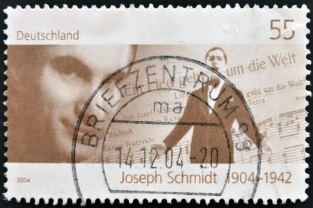GERMANY - CIRCA 2004: A stamp printed in Germany shows Joseph Schmidt, circa 2004 Stock Photo - 15156220