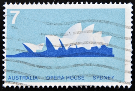 AUSTRALIA - CIRCA 1973: stamp printed in Australia shows Opera House, Sydney, circa 1973
