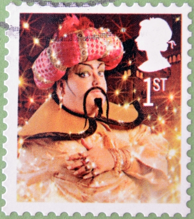 UNITED KINGDOM - CIRCA 2008  A christmas stamp printed in Great Britain shows The Genie from Aladdin, circa 2008  Stock Photo - 15370471