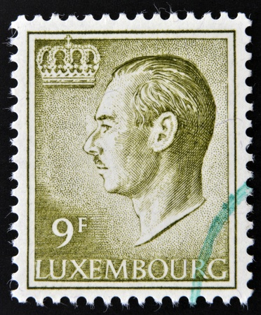 LUXEMBOURG - CIRCA 1965: A stamp printed in Luxembourg shows image of Grand Duke Jean, circa 1965