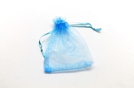 Blue cloth bag empty photo