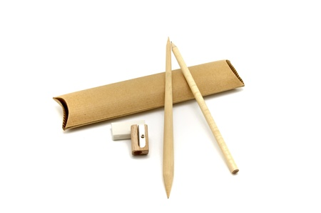 biodegradable material: drawing objects recycled