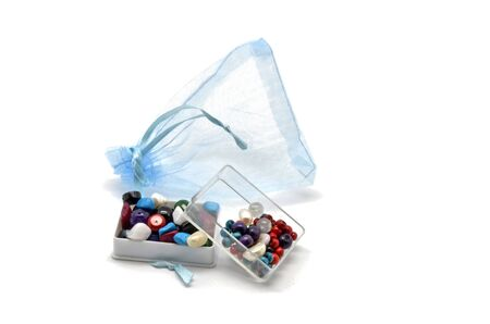 Gift bag with beads and trinkets boxes photo