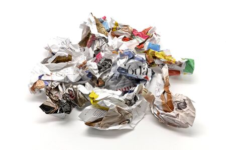 Crumpled paper balls and thrown Stock Photo - 15819548
