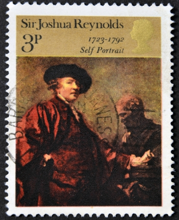 reynolds: UNITED KINGDOM - CIRCA 1973  A stamp printed in Great Britain shows