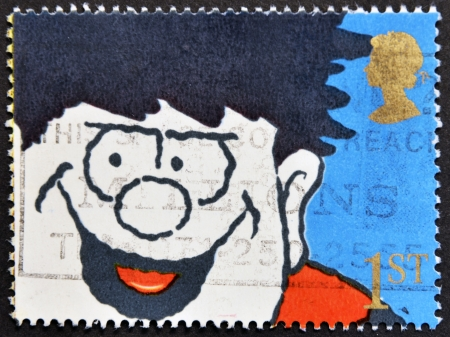 UNITED KINGDOM - CIRCA 1990  A stamp printed in Great Britain shows Dennis the Menace, circa 1990 Stock Photo - 15816451