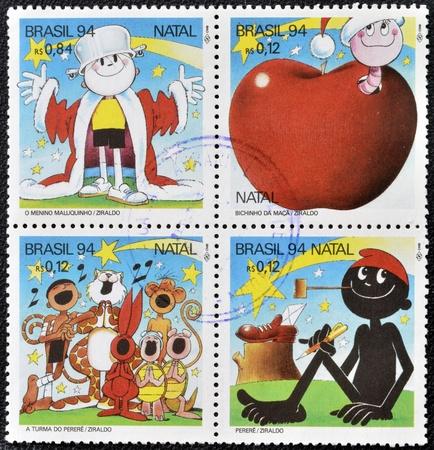 BRAZIL - CIRCA 1994: Stamps printed in Brazil dedicated to the cartoonist Ziraldo, circa 1994