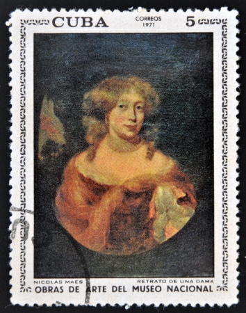 CUBA - CIRCA 1971: A stamp printed in cuba dedicated to works of art from the National Museum, shows